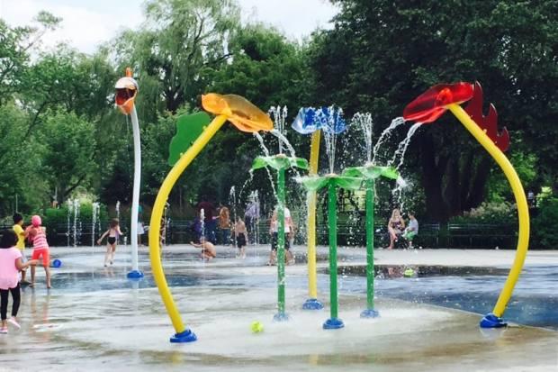 High park splash pad