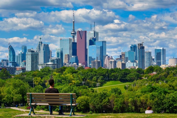 Toronto Canada Man at Riverdale Park